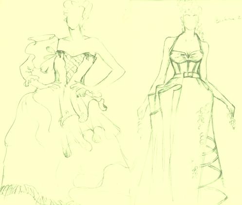 2 Entwürfe für Brbara als François Hill