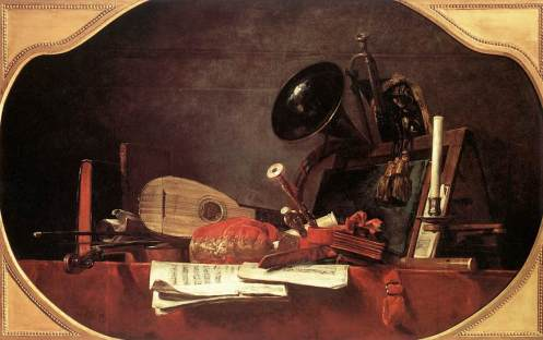Attributes of Music, Jean-Baptiste Simeon Chardin 1765