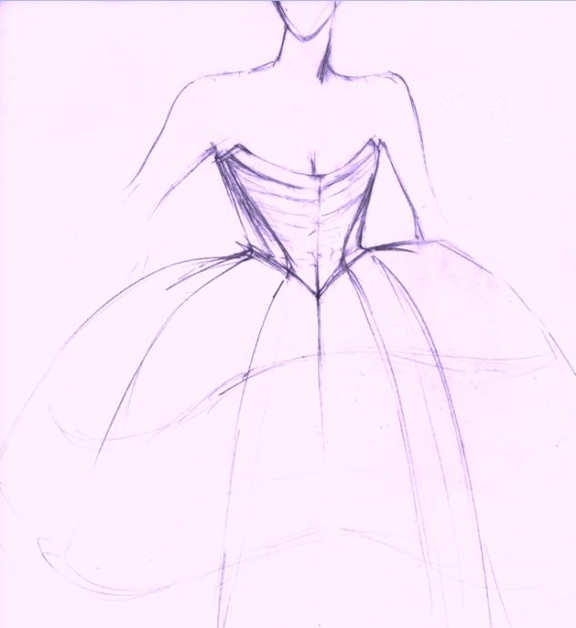 Entwurf für Cindy als Jean-Marie