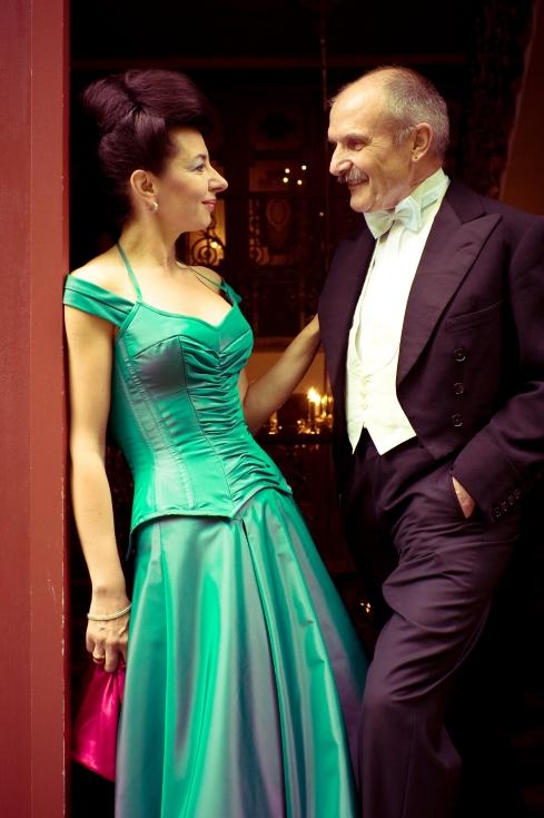 Rolf Schneider und Beata Sievi im Giessbach Hotel, Bild: Stanislav Kutac