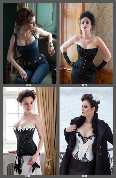 Model Anna in vier verschiedenen historisch inspirierten Korsetts von Beata Sievi, Inhaberin des einzigen Korsett-Ateliers der Schweiz. Bilder: Ewald Vorberg