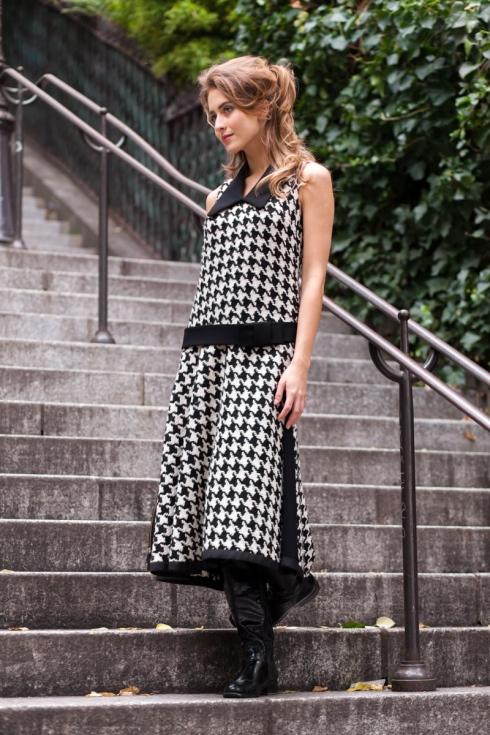 Pepita Kleid Vintage Couture Style Atelier « entre nous »