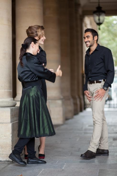 Beata Sievi mit ihren Models bei Fotoshooting mit Ewald Vorberg