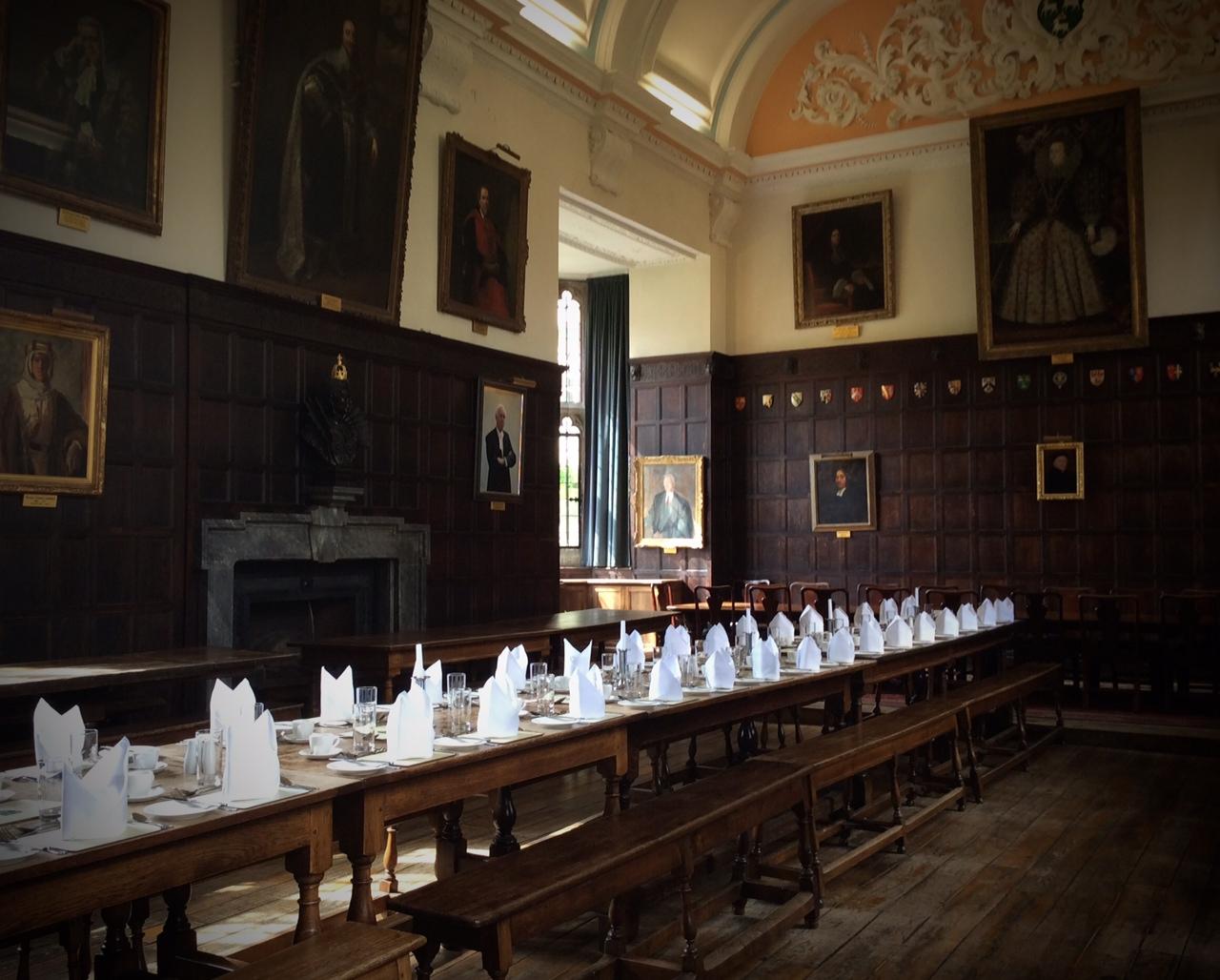 Festsaal in Jesus College, Ort der Oxford Corsett Conference 2014