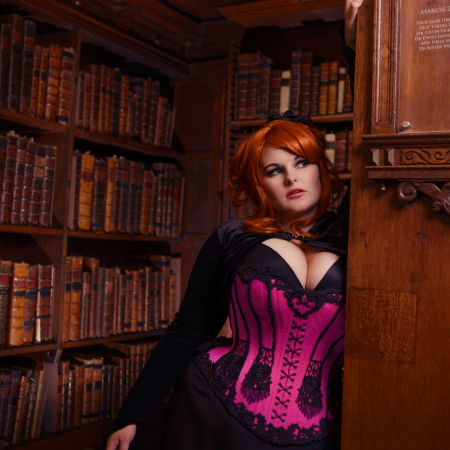 Evie Wolfe in corsett by Beata Sievi, photography: Scott Chalmers, Oxford Conference of Corsetry 2014