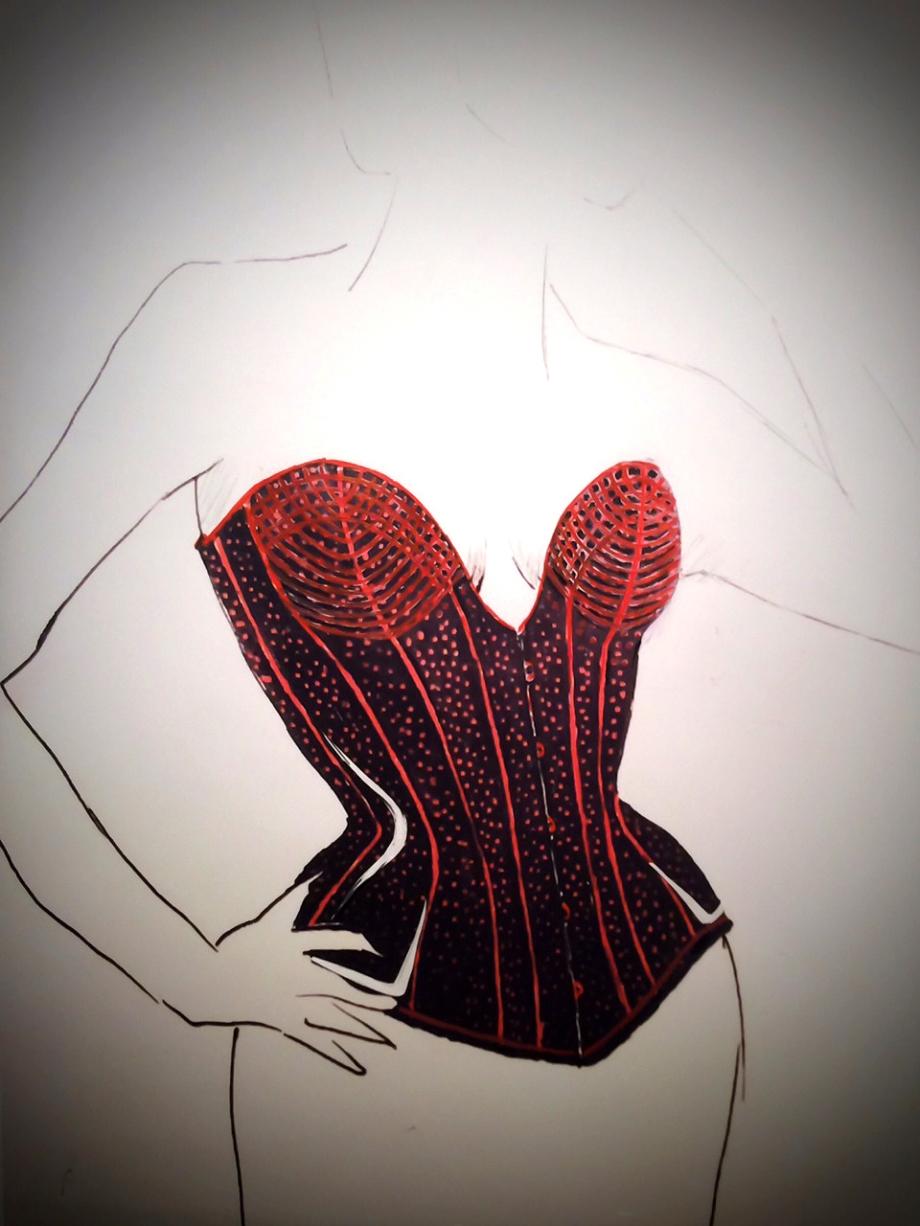 Boudoir Corset von Beata Sievi - Entwurf Phase