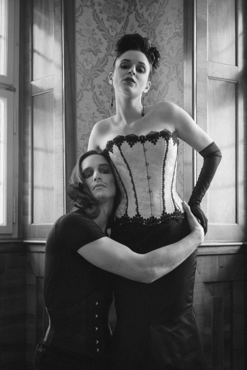 """Shades of grey"" by Photographer Ewald Vorberg and Corset Artist Beata Sievi"