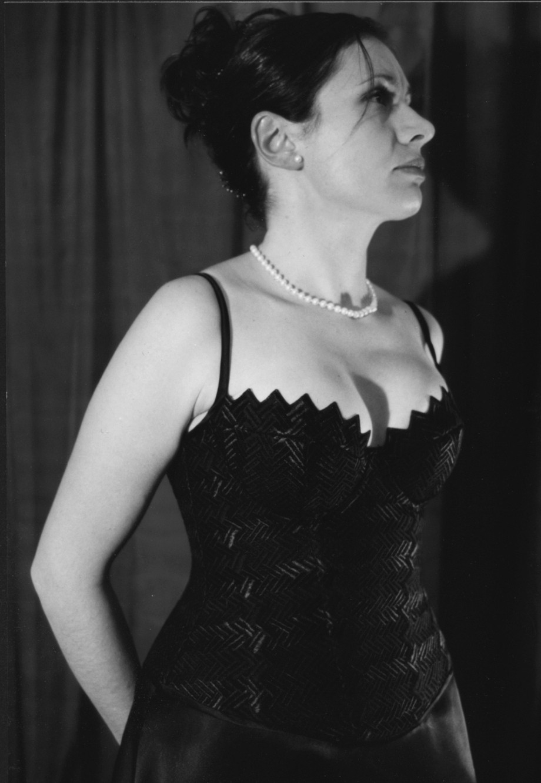 Antonietta schwarzes spitzenbustier sw