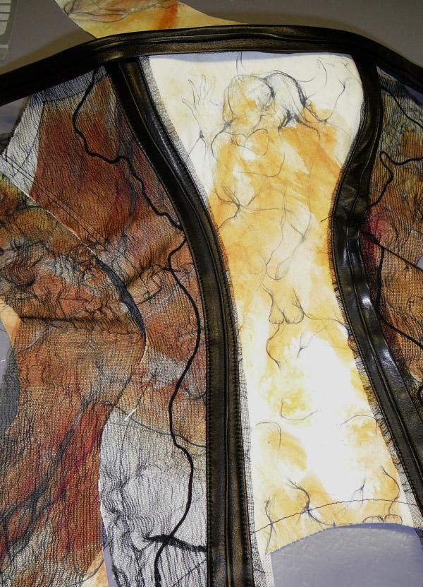"""Création unique von beata Sievi Corset Artist, """"L'histoire de l' Oeil"""", 2008"""