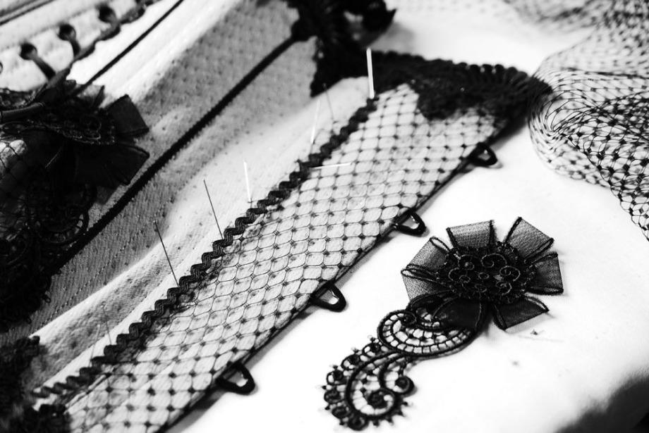 Verführerisches Unterbrustkorsett angefertigt bei Beata Sievi Corset Artist